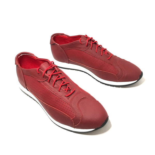 AutoMotiveShoes TURBO Rojo. Piel