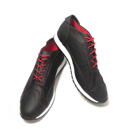 AutoMotiveShoes TURBO Negro. Piel