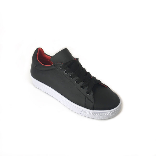 Tenis sneakers AutoMotiveShoes MAKE Negro. Piel