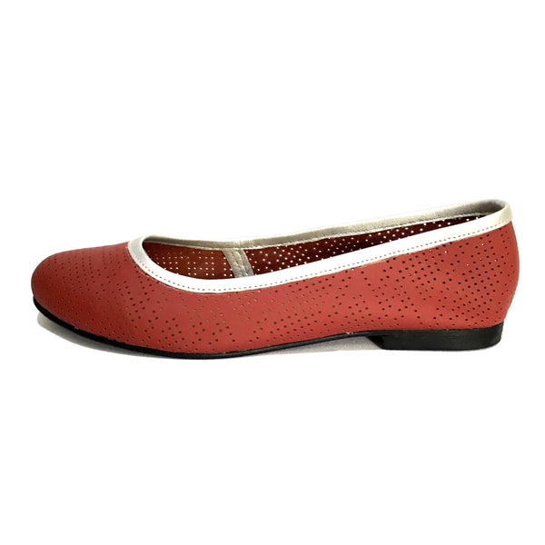 Flats SELMOON AutoMotive Rojo. Piel