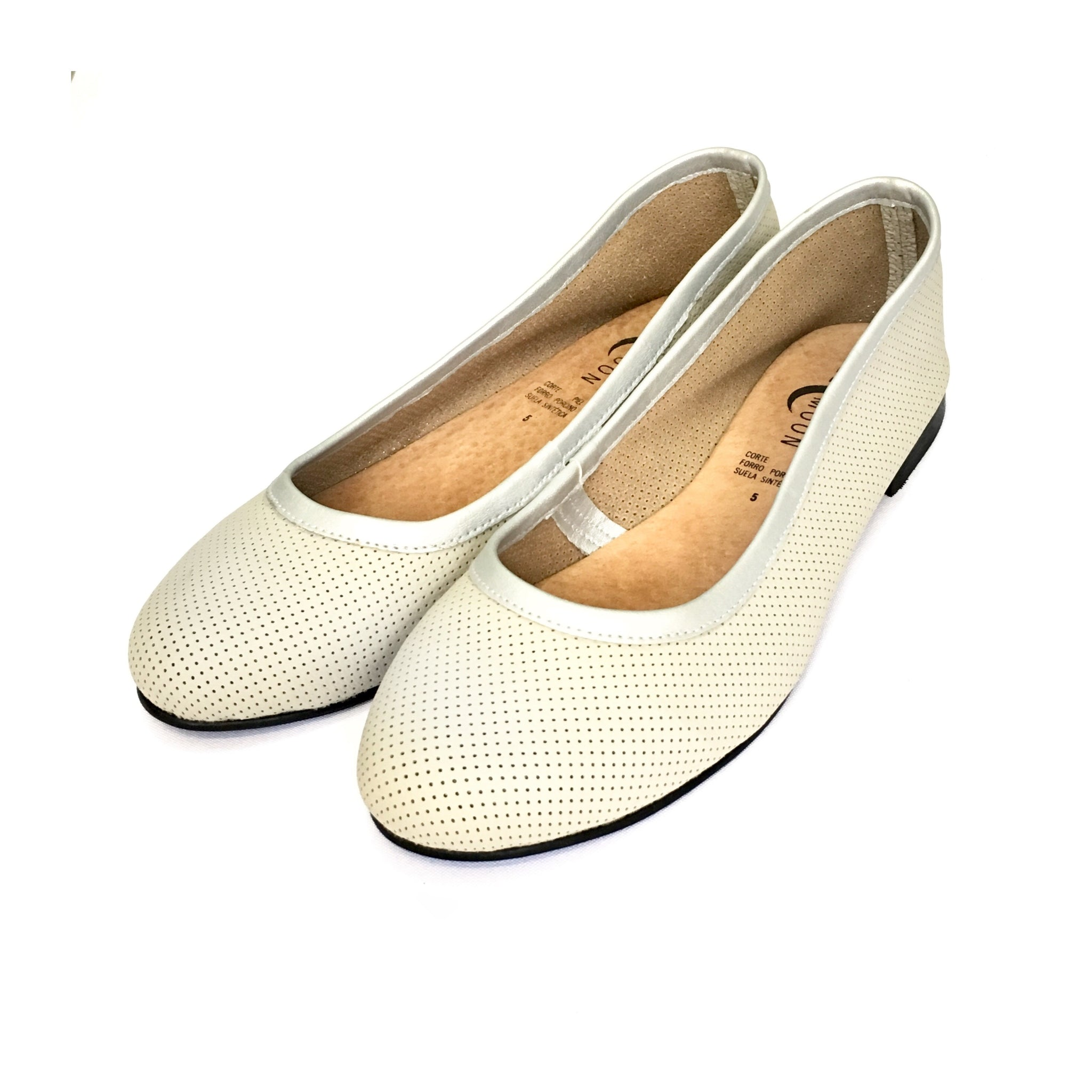 Flats SELMOON AutoMotive Hueso. Piel.