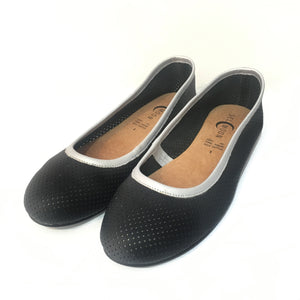 Flats SELMOON AutoMotive Negro. Piel