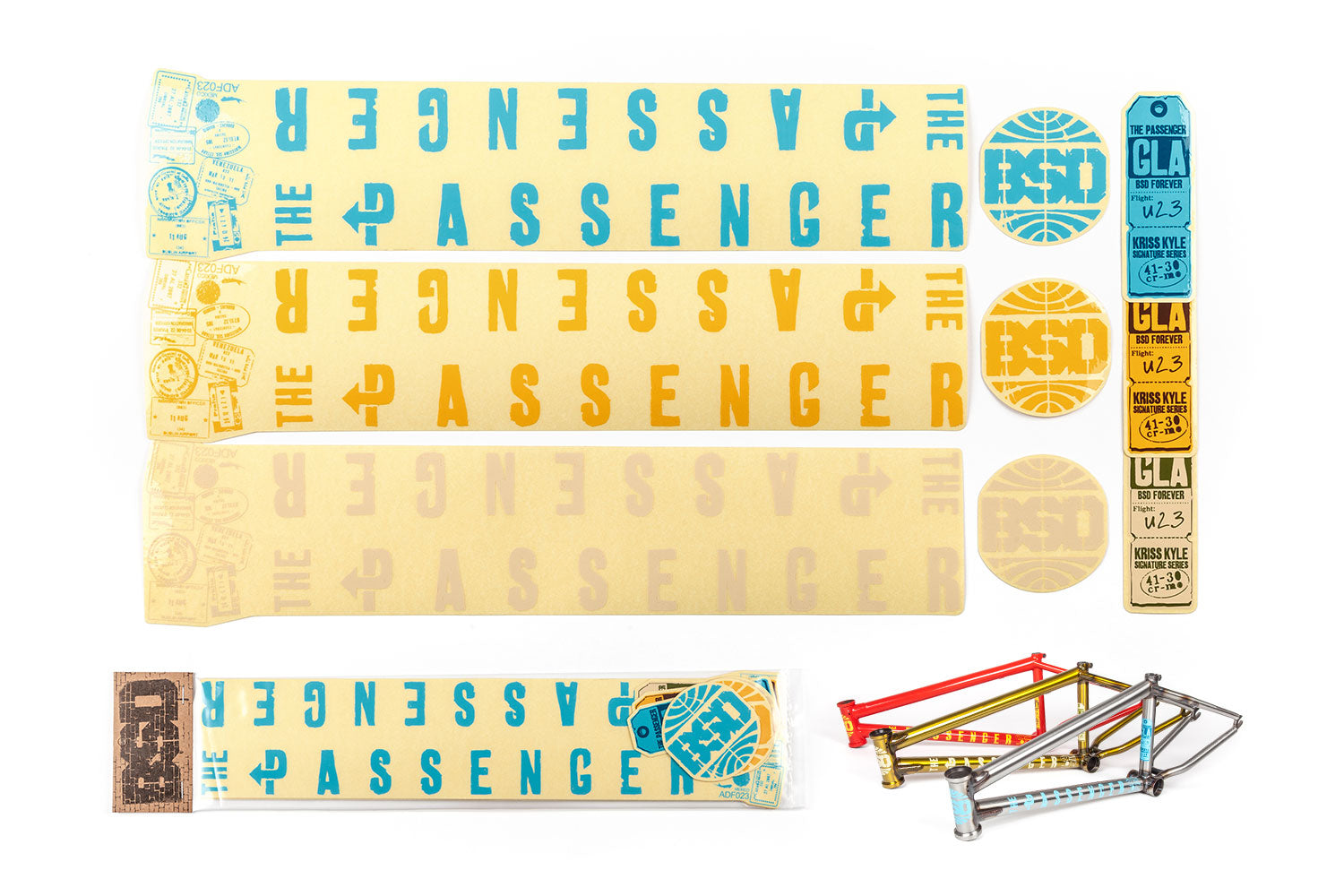 BSD Frame Sticker Packs - Passenger 2016