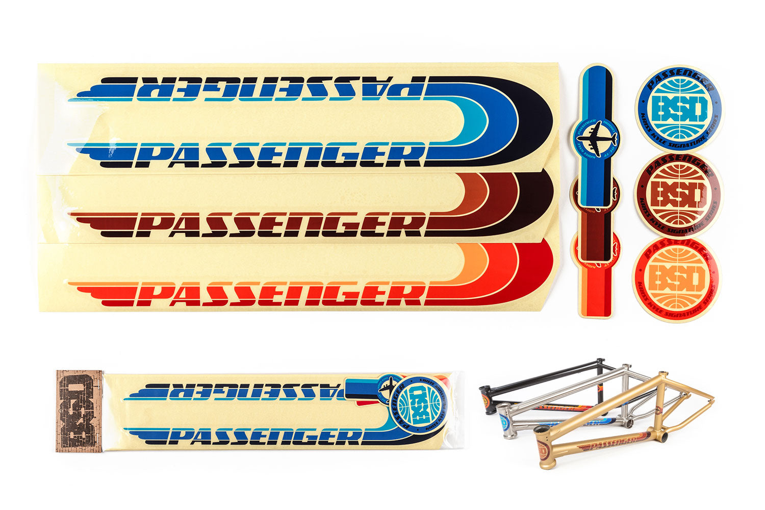 BSD Frame Sticker Packs - Passenger 2017