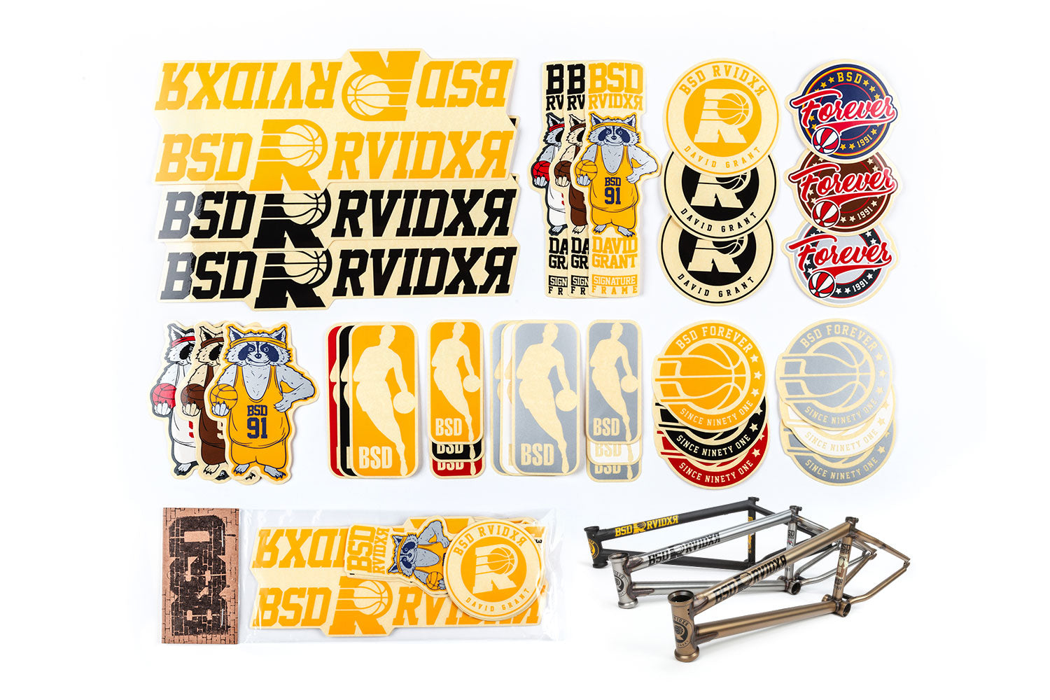 BSD Frame Sticker Packs - Raider 2019