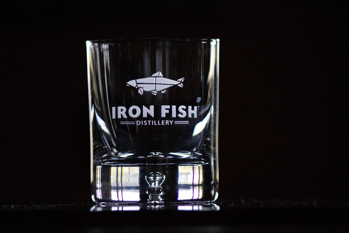 Iron Fish Rocks Glass