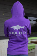 Unisex Iron Fish Hooded Zip Up