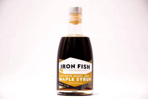 Iron Fish Bourbon Barrel Aged Maple Syrup 375ML