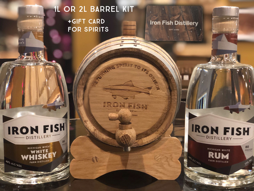 1 Liter & 2 Liter Barrel Kits w/ Gift Card for Spirits