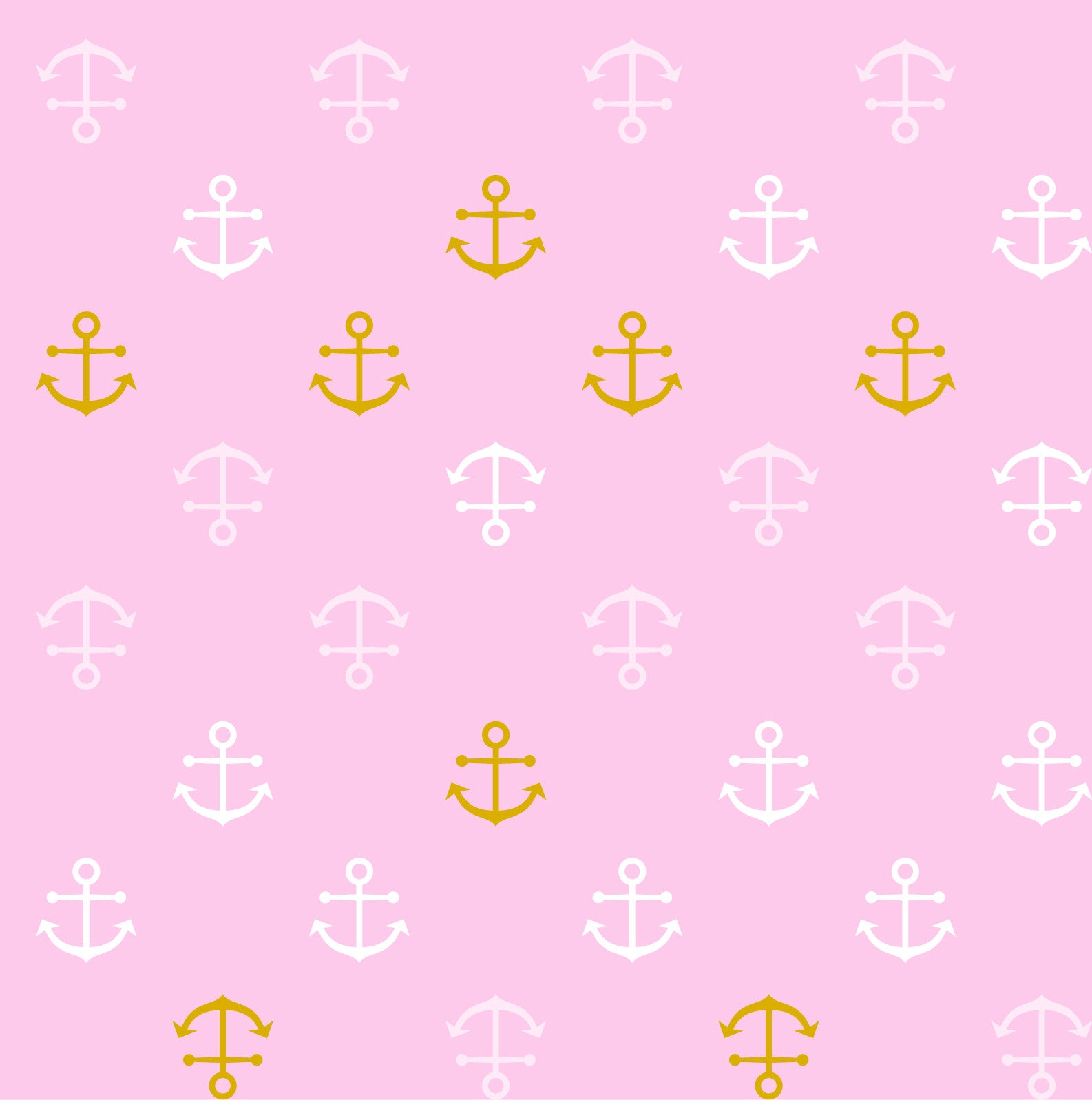 Baby Bamboo Pink Anchors  with Metallic