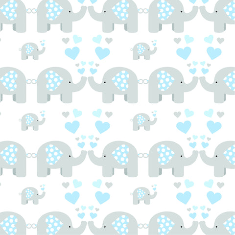Cotton Muslin Blue Elephant Muslin