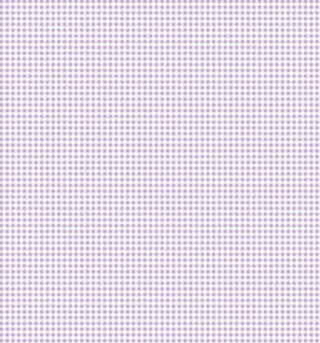 Cotton Flannel Print Gingham Lilac