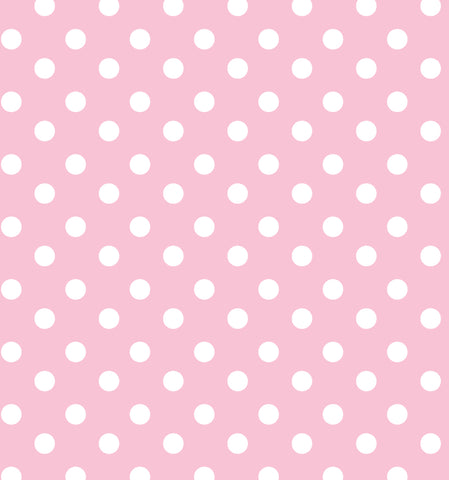 Cotton Flannel Print Polkadot Light Pink