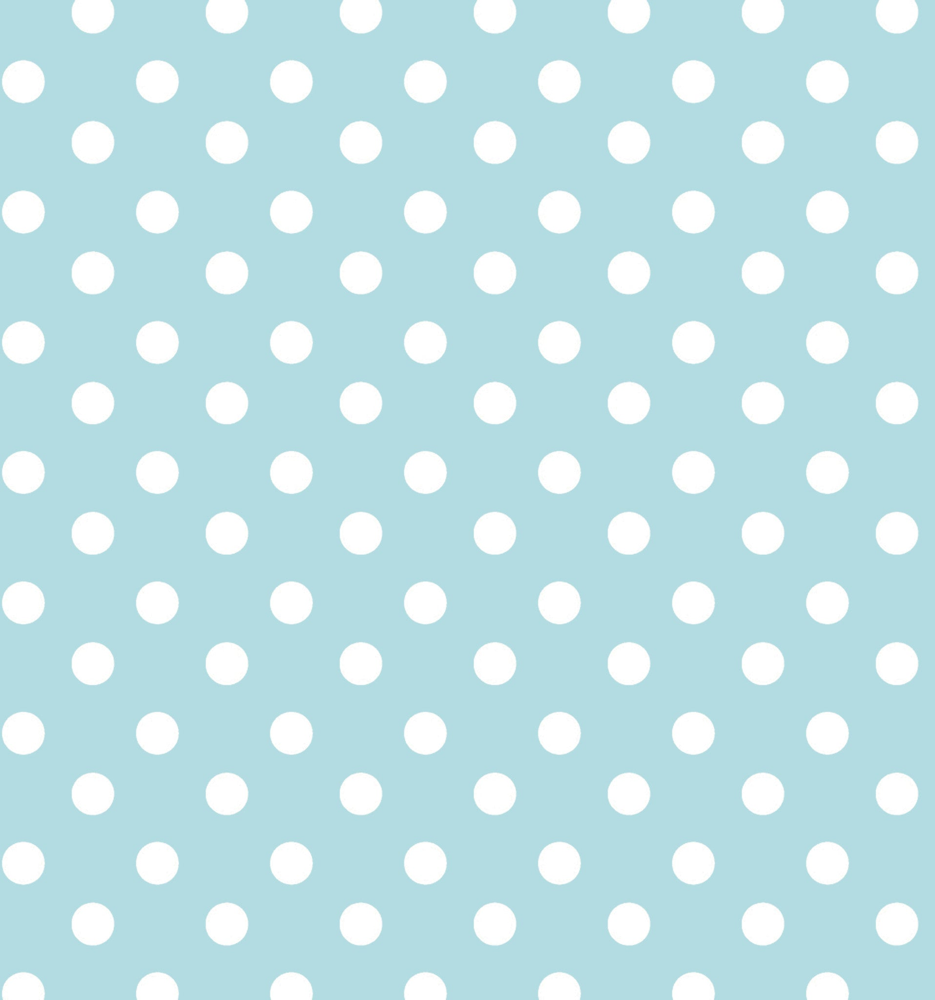 Cotton Flannel Print Polkadot Aqua