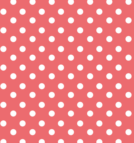 Cotton Flannel Print Polkadot Punch