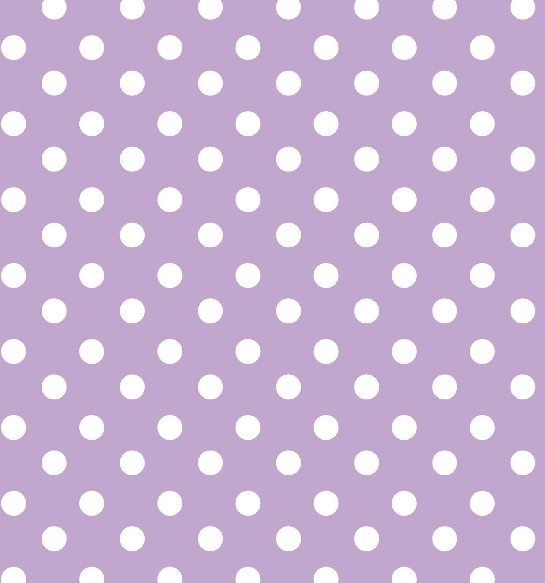 Cotton Flannel Print Polkadot Lilac