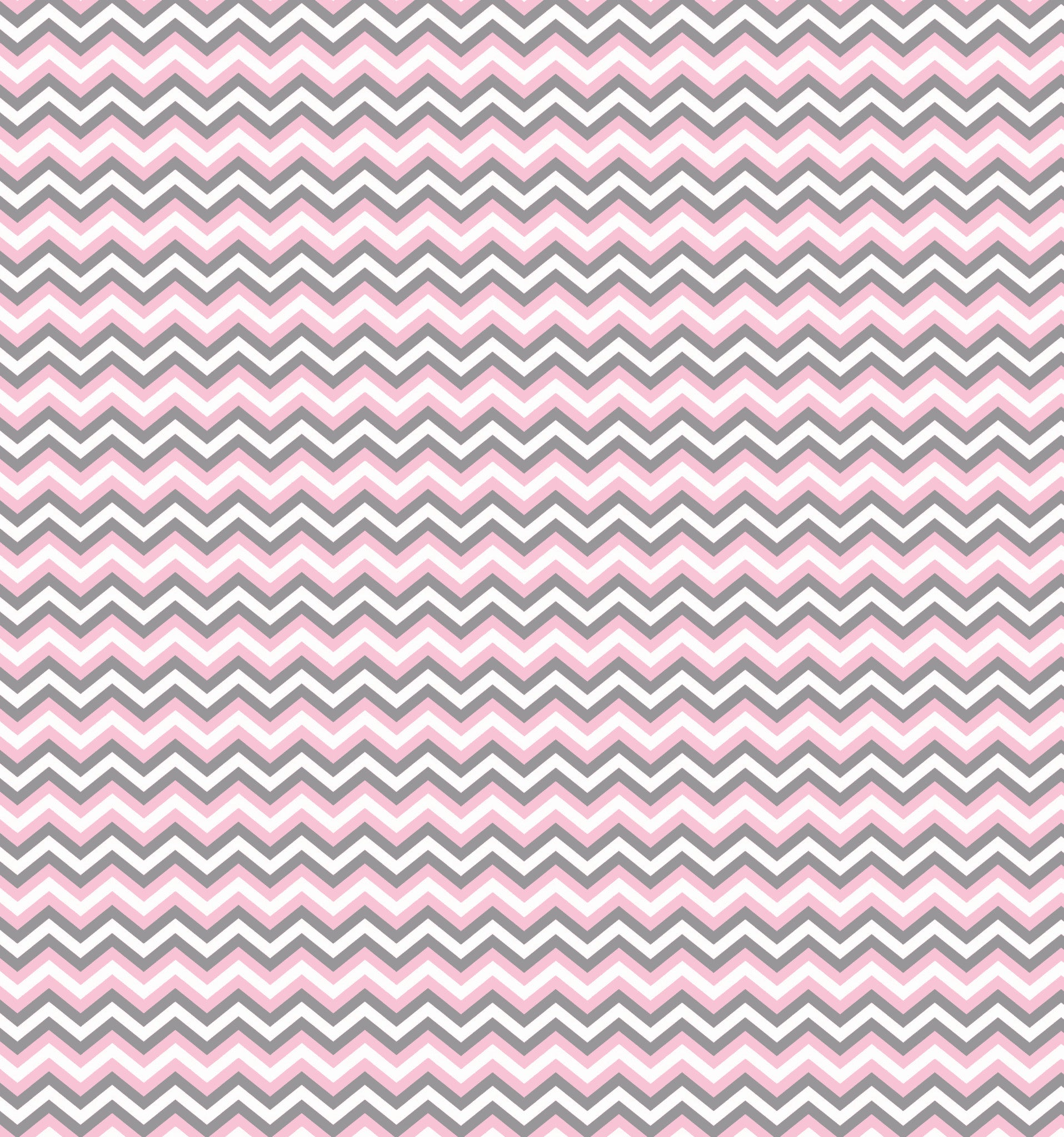 Cotton Flannel Print Chevron Pink