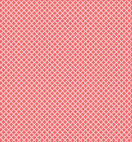 Cotton Flannel Print Trellis Punch