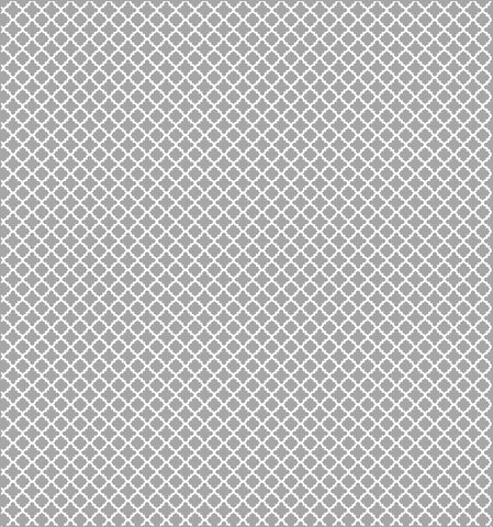 Cotton Flannel Print Trellis Grey