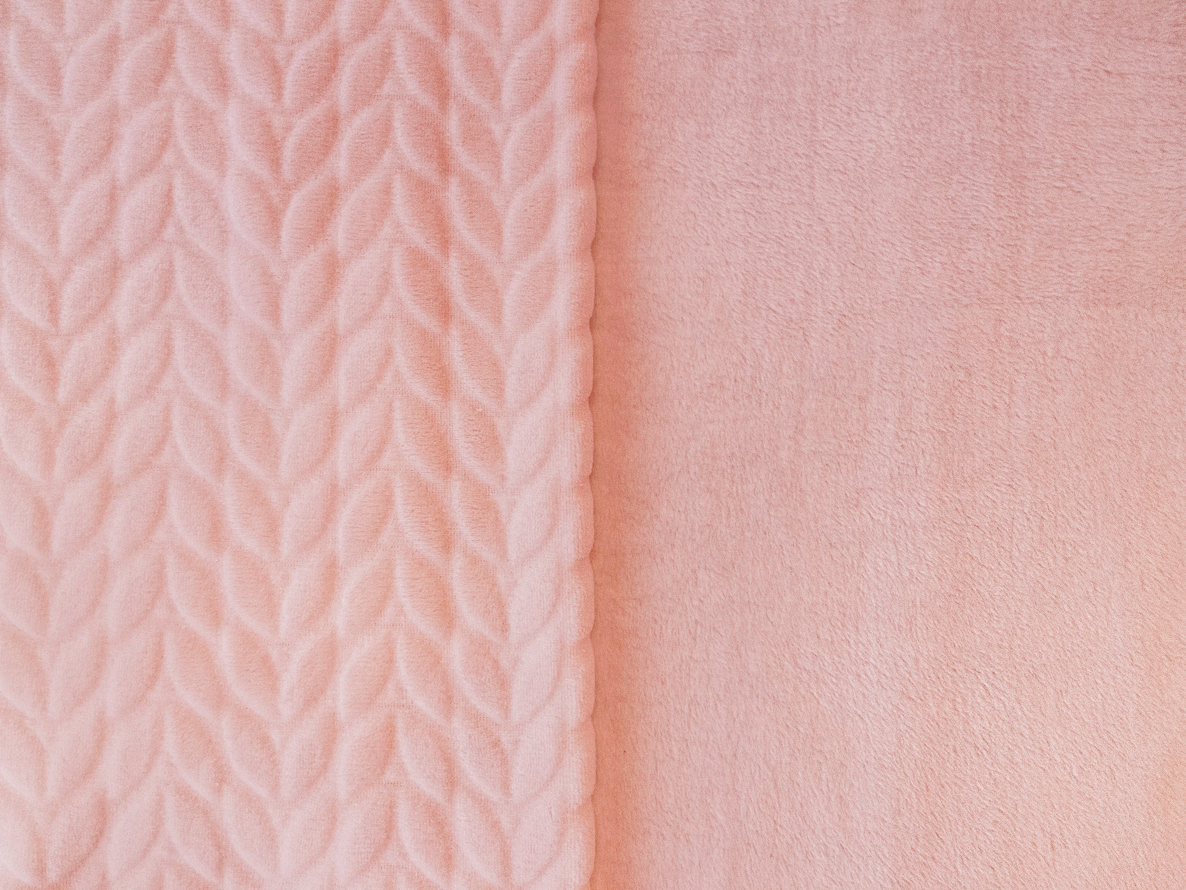 RTC Fabric 100% Polyester Squiggly Minky  Fleece, Med Pink, Blanket Fabric, Apparel Fabric, Nurcery Fabric, 60'', 245Gsm