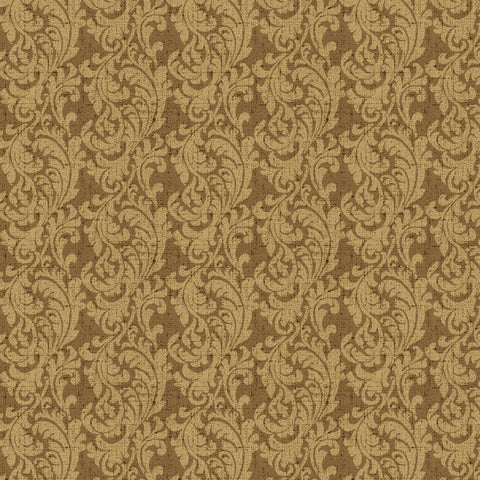 54'' Cotton Duck Canvas Paisley Scroll Brn