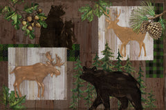 "Stitch & Sparkle Paul Brent-Lodge Farm-Wildwood Lodge 100% Cotton Fabric 44"" Wide, Quilt Crafts Cut by The Yard"