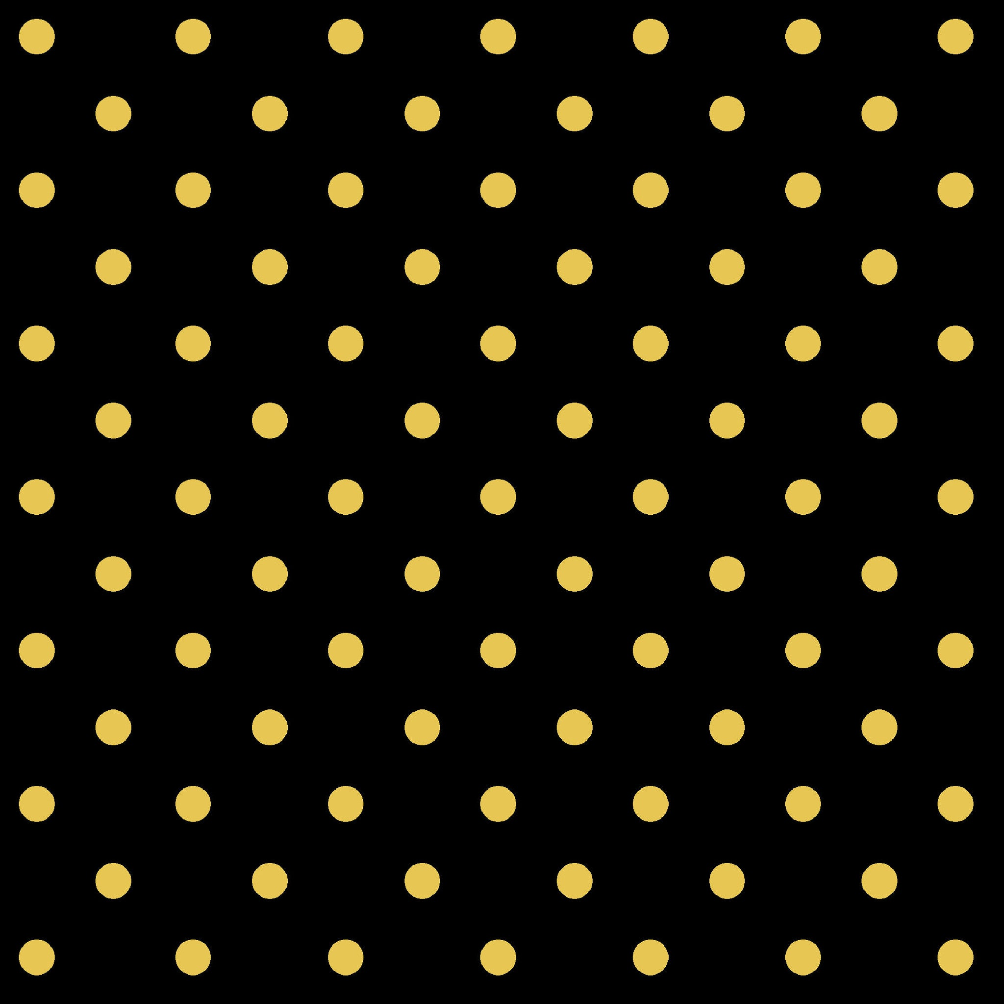DARK ROMANCE-SS DR Gold Metallic Dot Blk 100% Cotton
