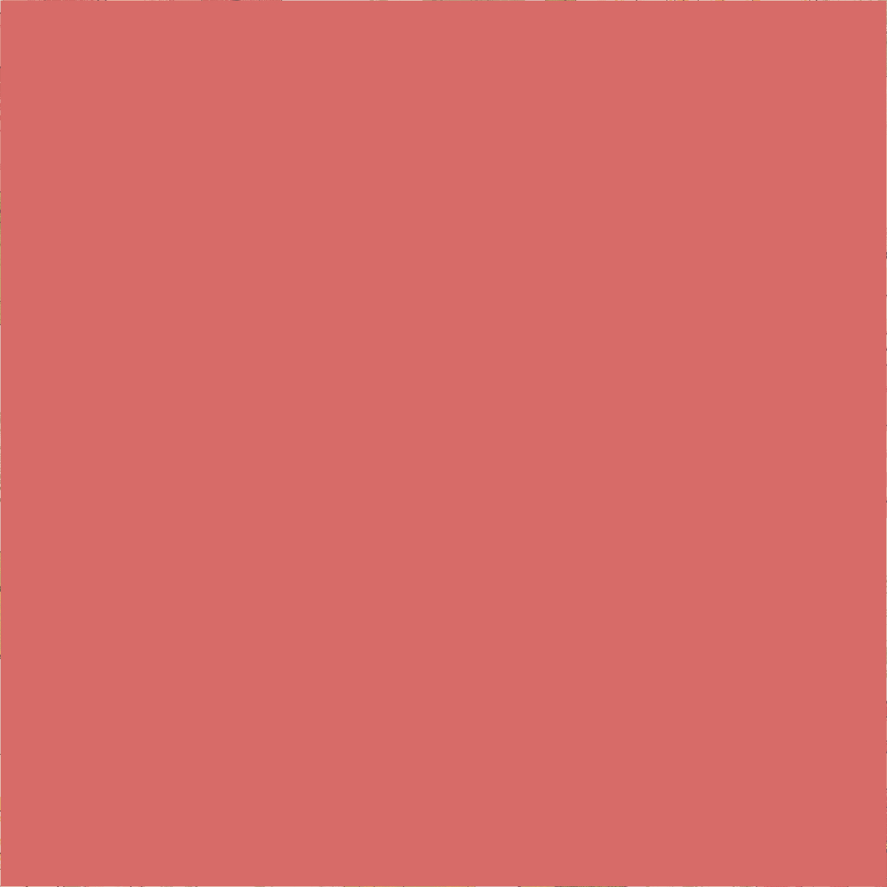 45'' Cotton Duck Canvas Solid Coral