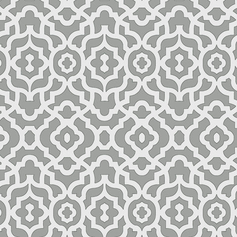 45'' Cotton Duck Canvas Lattice Grey
