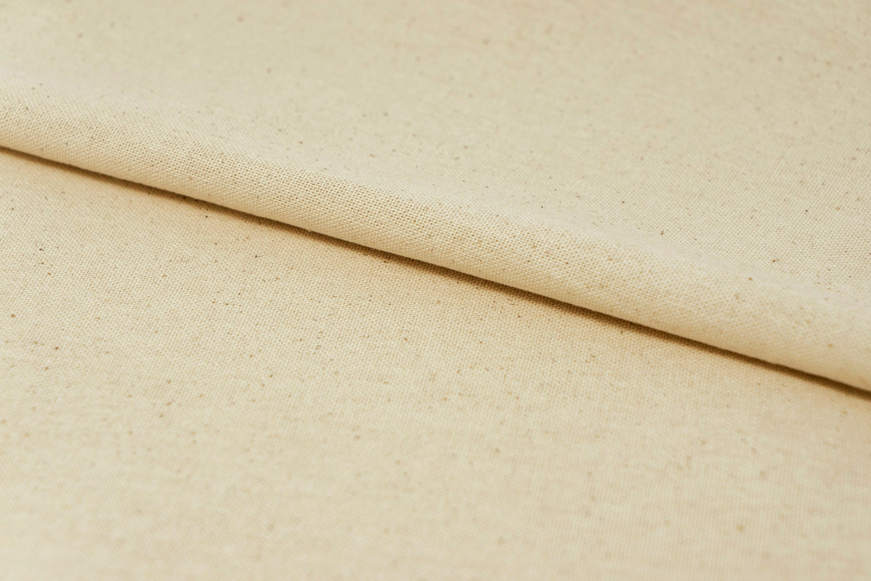 "100% Cotton 44/45"" Wide Natural Osnaburg-Permanent Press Muslin. Sold by Yard, Unbleached, Off-White"