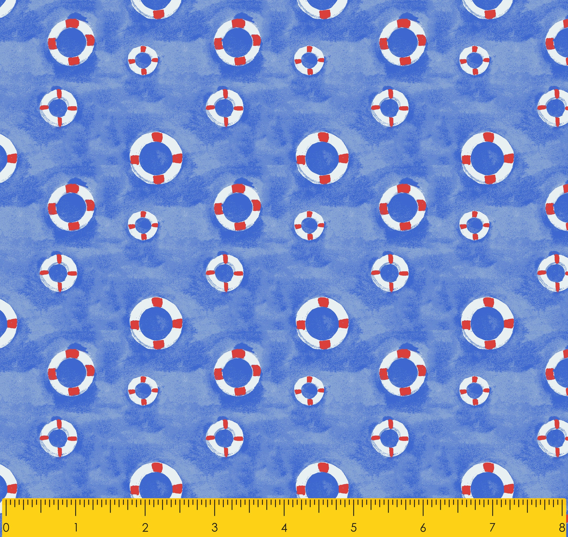 "Paul Brent PB SWIM RING 100% Cotton Prints Fabric 44"" Wide, Quilt Crafts Cut By The Yard"