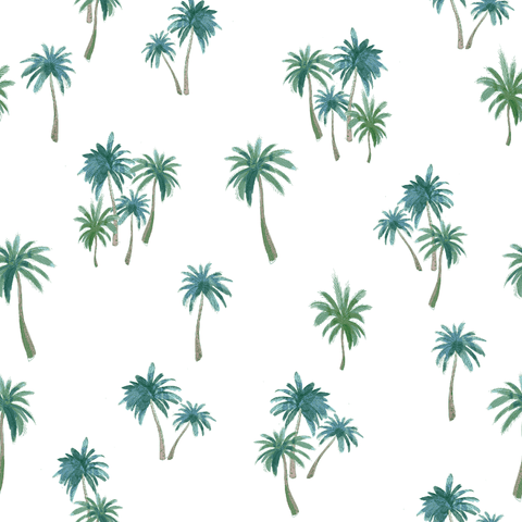 Stitch & Sparkle Fabrics, Tropical, Coconut Trees  Cotton Fabrics,  Quilt, Crafts, Sewing, Cut By The Yard