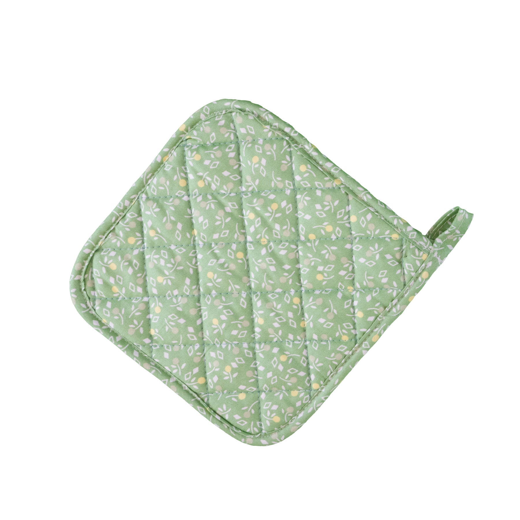Stitch & Sparkle POT HOLDER 1 Piece Pack, Heat Resistant, 100% Cotton, Vintage, Toss Flowerlet