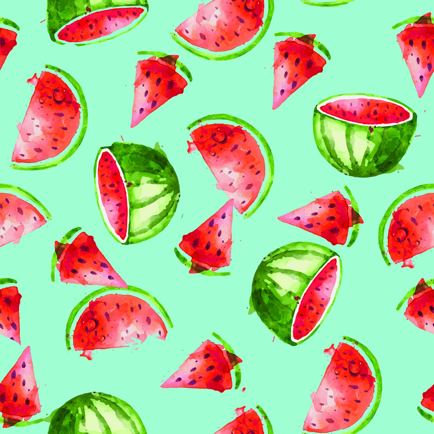 Stitch & Sparkle Fabrics, Fruity, Cool Watermelon  Cotton Fabrics,  Quilt, Crafts, Sewing, Cut By The Yard