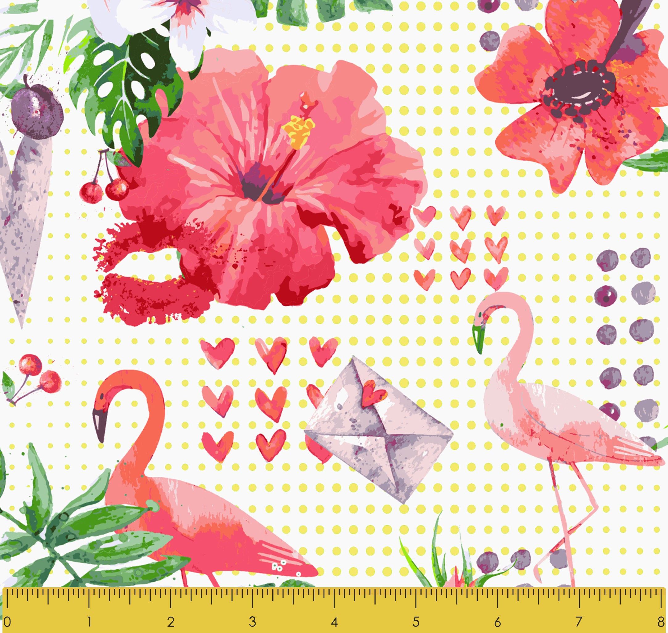 Stitch & Sparkle Fabrics, Tropical, Flamingo In The Garden Cotton Fabrics,  Quilt, Crafts, Sewing, Cut By The Yard