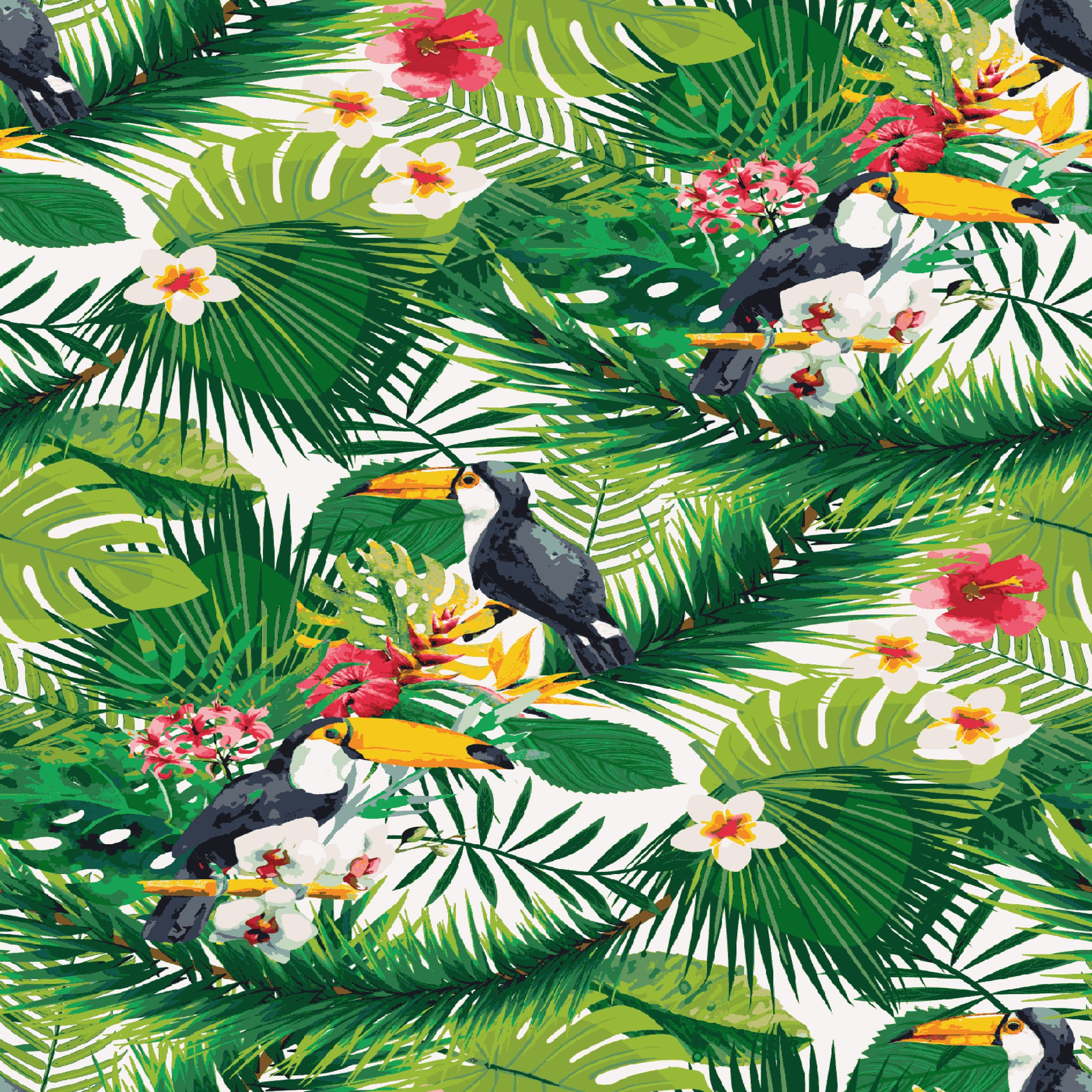 Stitch & Sparkle Fabrics, Tropical, Parrot In The Tropical Cotton Fabrics,  Quilt, Crafts, Sewing, Cut By The Yard