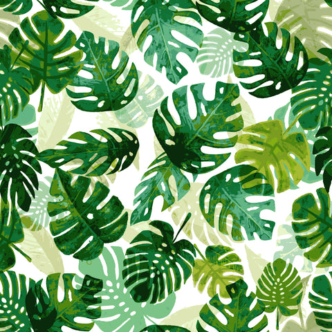 Stitch & Sparkle Fabrics, Tropical, Layering Tropical Leaves  Cotton Fabrics,  Quilt, Crafts, Sewing, Cut By The Yard
