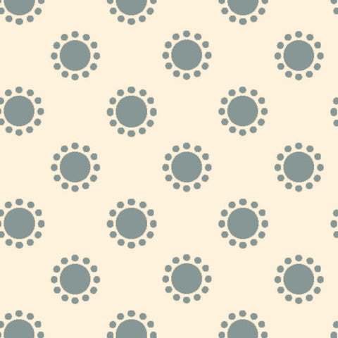 AVIARY-SS AY Sundot Stone Blue 100% Cotton Print fabric