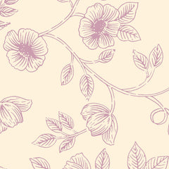 AVIARY-SS AY Floral  Lavender 100% Cotton Print fabric