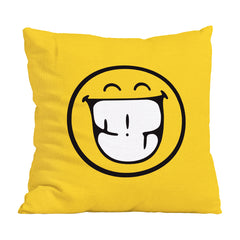 "Stitch & Sparkle - Smiley 17"" X 17"" Smiley Yellow Duck Canvas Cushion Kit for DIY Throw Pillow Cover, Sofa Cushion Cover, Craft Kit Pillow (Laugh face)"