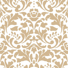 DARK ROMANCE-SS DR Damask Gold 100% Cotton