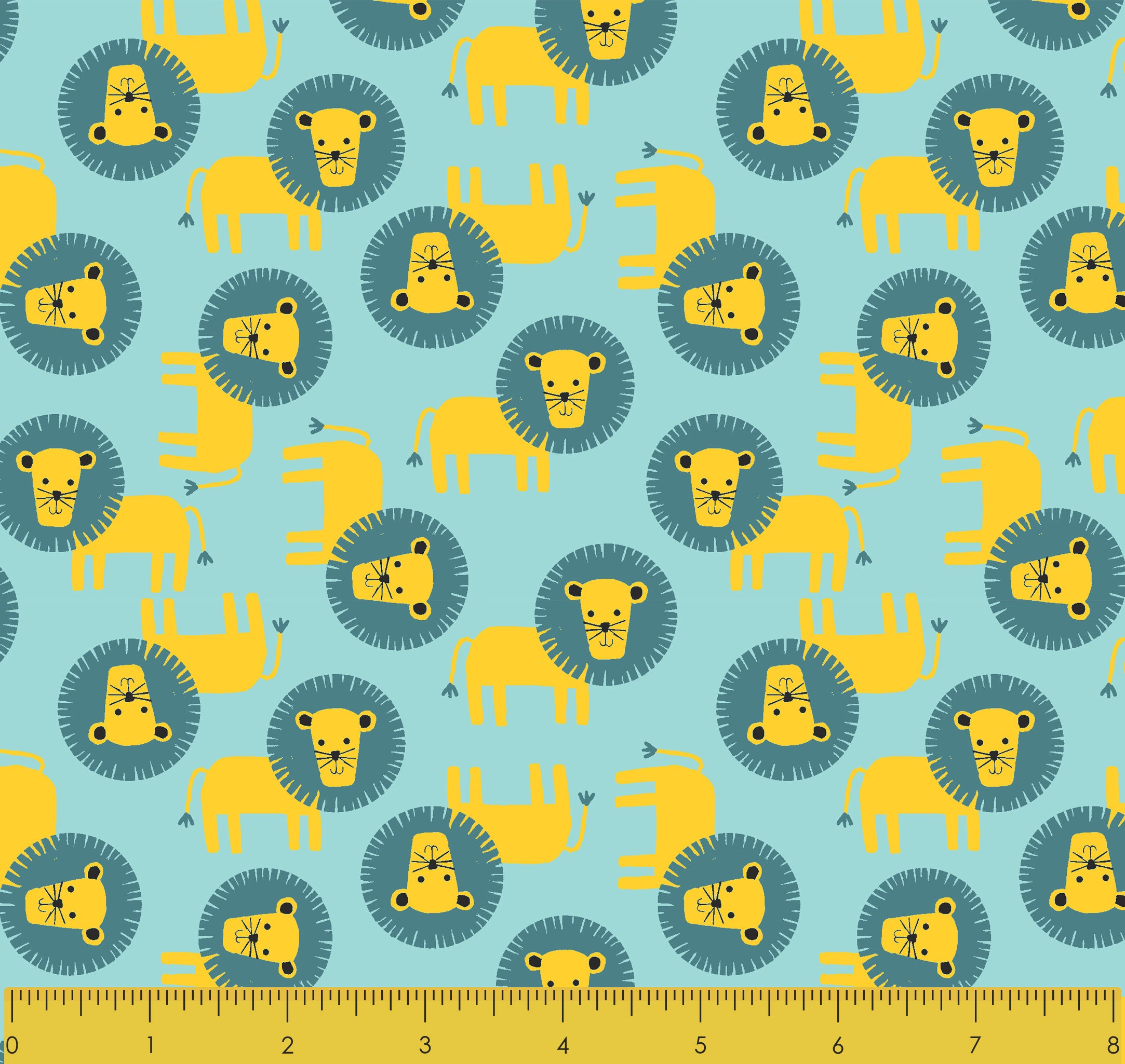 Blank Quilting /'Lion Heads Light Blue/' Flannel By The Yard; Safari Shuffle 2-Ply Flannel Collection #9164F-70