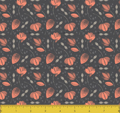 "Stitch & Sparkle Mid-Centry-Bold Blooms Coral 100% Cotton Fabric 44"" Wide, Quilt Crafts Cut by The Yard"