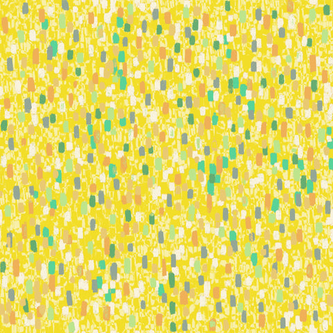 "Stitch & Sparkle Impressionism Moment-Yellow 100% Cotton Fabric 44"" Wide, Quilt Crafts Cut By The Yard"