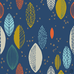 "Stitch & Sparkle Mid-Centry-Leaf Bounce Pool 100% Cotton Fabric 44"" Wide, Quilt Crafts Cut by The Yard"