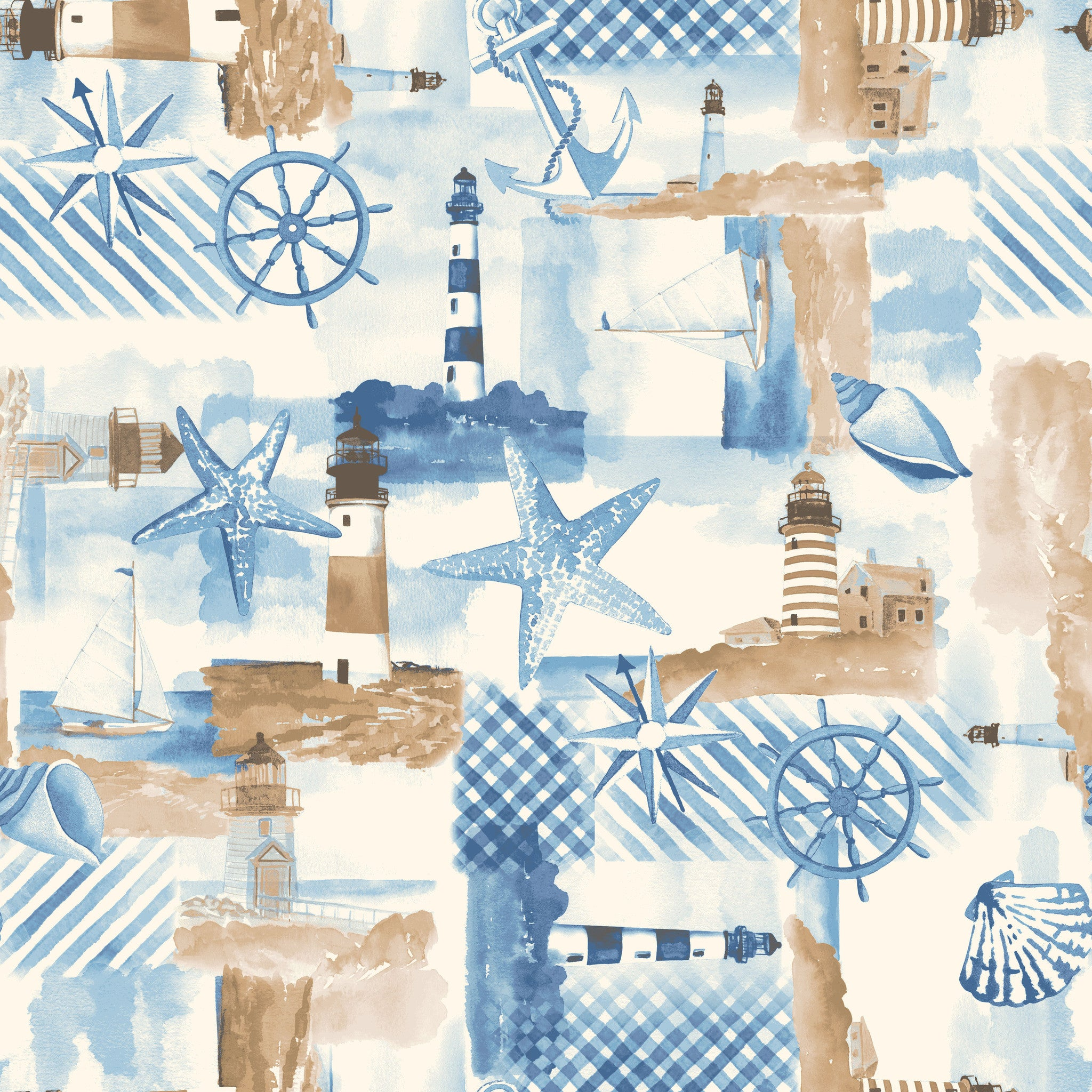 NAUTICAL-SS Lighthouse Beige 100% Cotton
