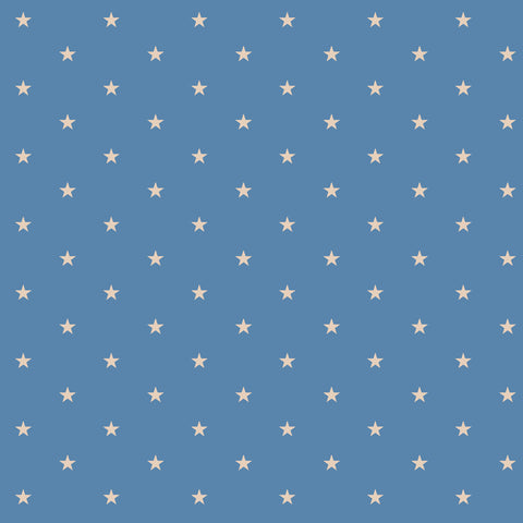 NAUTICAL-SS Naut Star Blue 100% Cotton