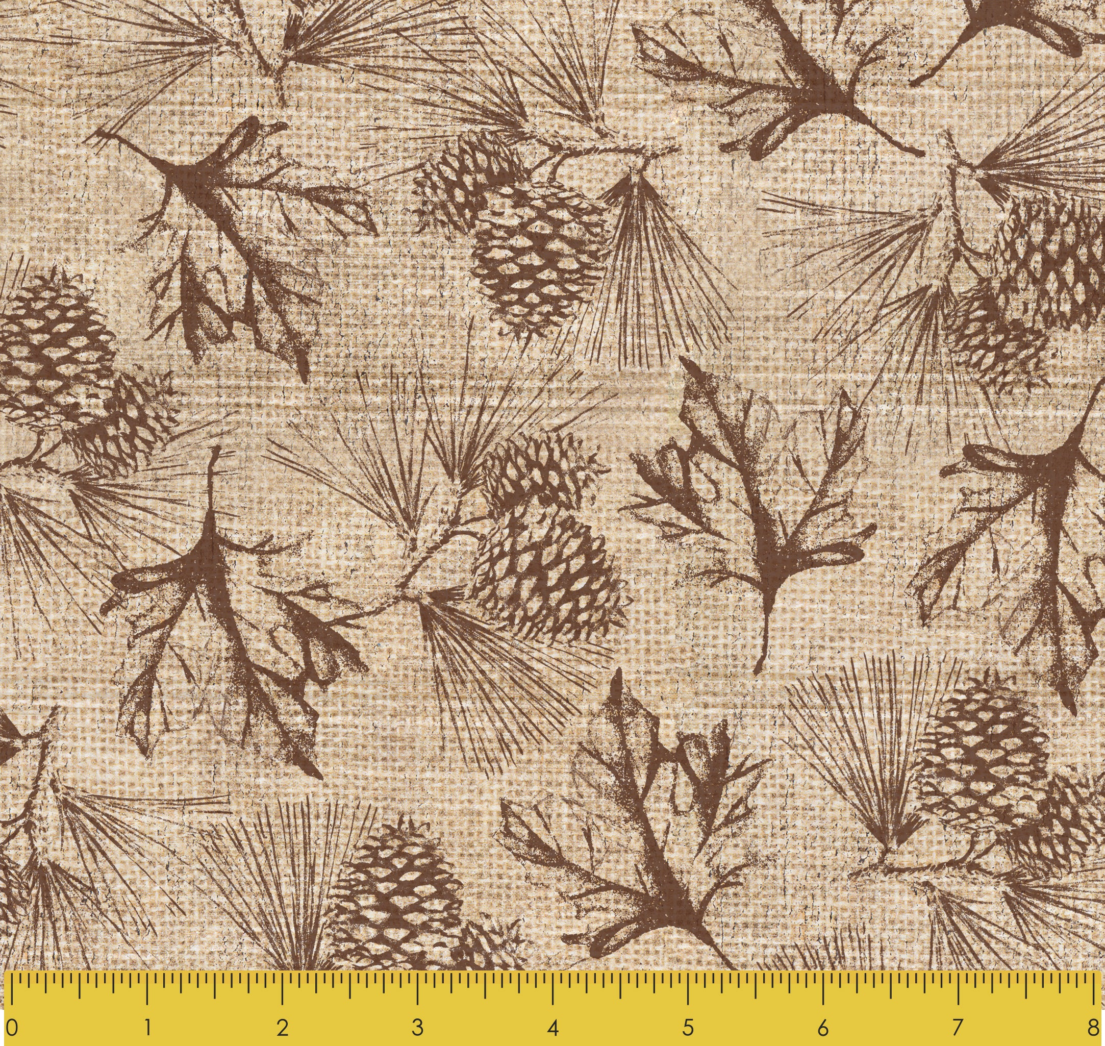 "Stitch & Sparkle Paul Brent-Lodge Farm-Pine Leaves 100% Cotton Fabric 44"" Wide, Quilt Crafts Cut by The Yard"