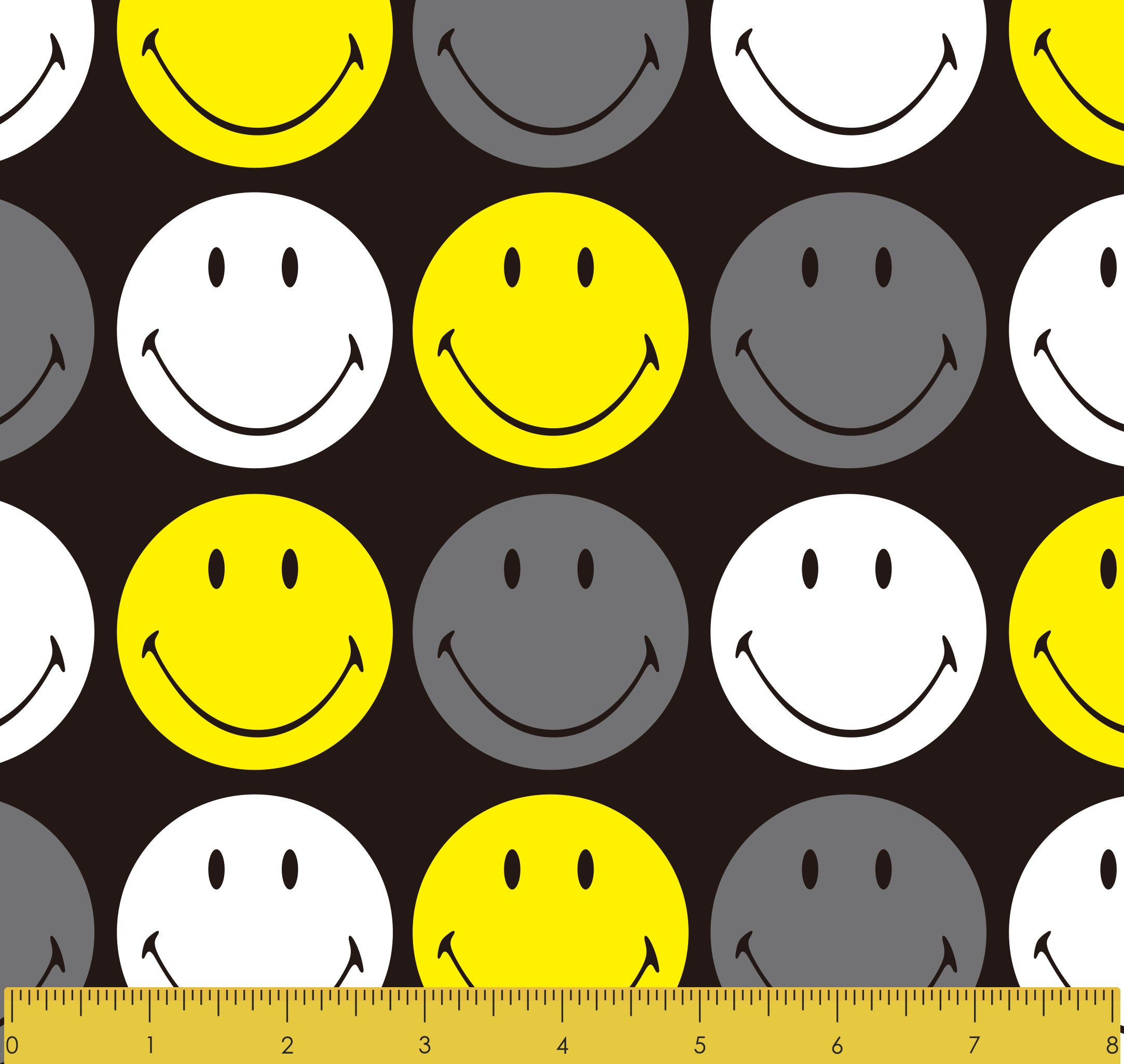 "Stitch & Sparkle Smiley Originals Happy Faces 100% Cotton 44"" Wide, Quilt Crafts Fabric, Cut by the Yard"