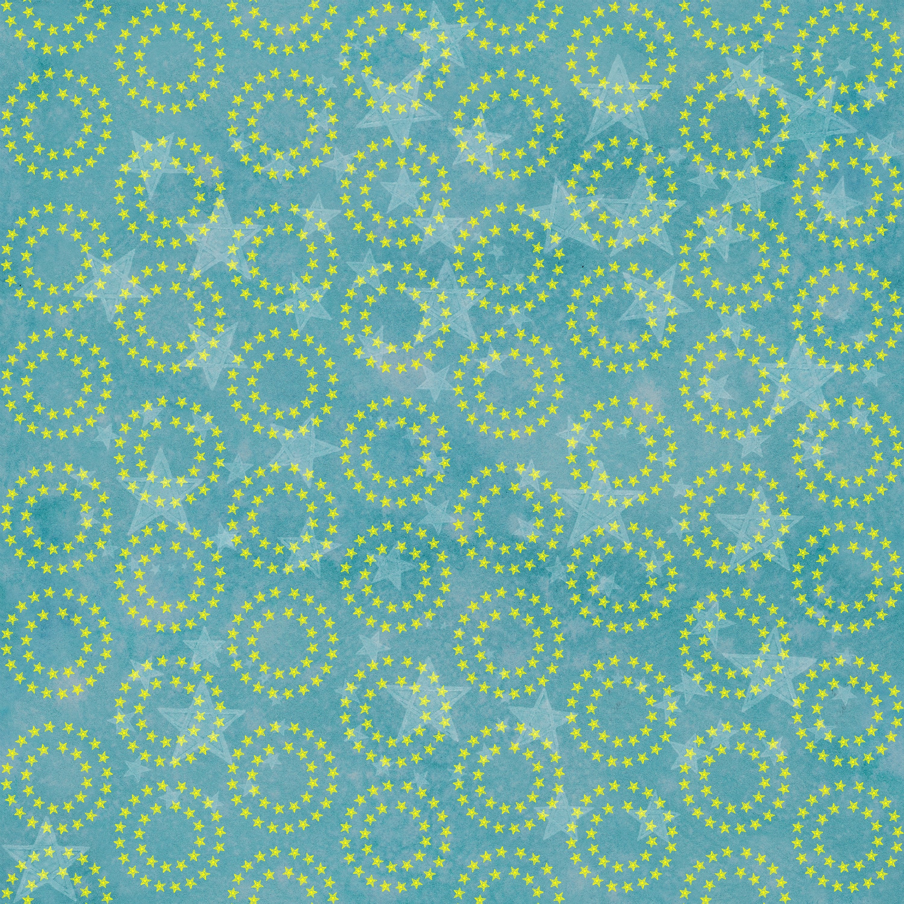 "Stitch & Sparkle Twinkle Little Moon-Star Circles 100% Cotton Fabric 44"" Wide, Quilt Crafts Cut by The Yard"